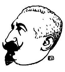 Retrato de Laurent Tailhade porFélix Vallotton publicado enLe Livre des masques porRemy de Gourmont(1896).