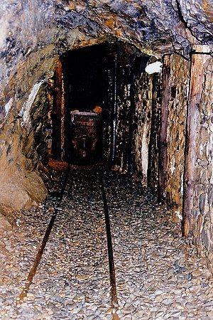 Laxey Mine - Inside the old adit of the Great Laxey Mine