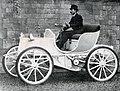 Le Comte Gaston de Chasseloup-Laubat, sur Jeantaud Duc électrique en 1899 - 2.jpg