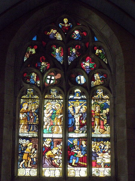 Maîtresse-vitre de l'église Saint-Jean-Baptiste de Le Croisty (56).
