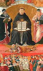 Le Triomphe de saint Thomas d Aquin  , de Benozzo Gozzoli (1468-1484), Paris, musée du Louvre.