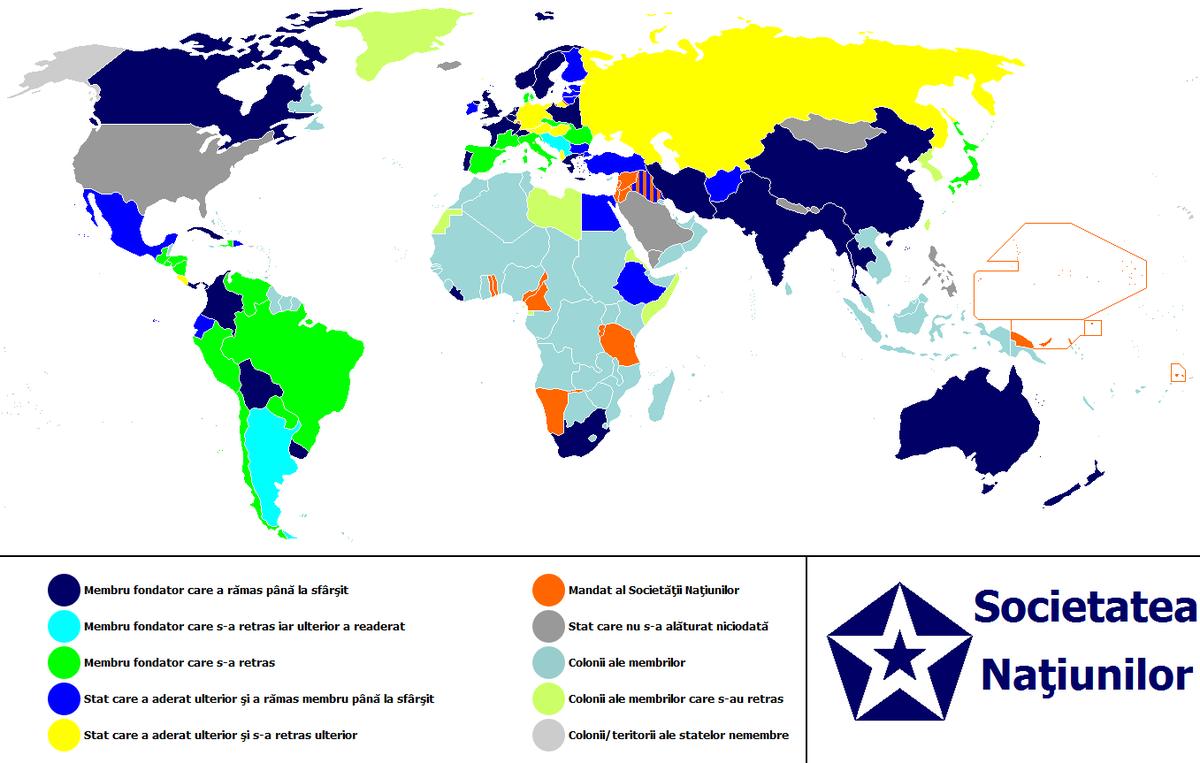 Localizarea Societății Națiunilor