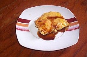 English: Leche asada with miel de palma