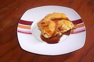 Palm syrup - Leche asada (a kind of crème caramel) with miel de palma