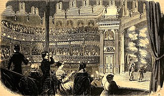 Barnum's American Museum - The Lecture Room of Barnum's American Museum, 1853.