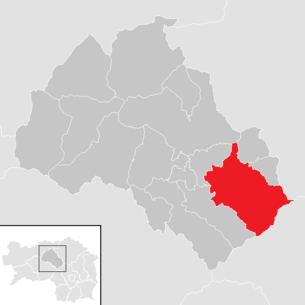Location of the municipality of Leoben in the district of Leoben (clickable map)