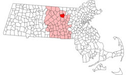 Location in Massachusetts