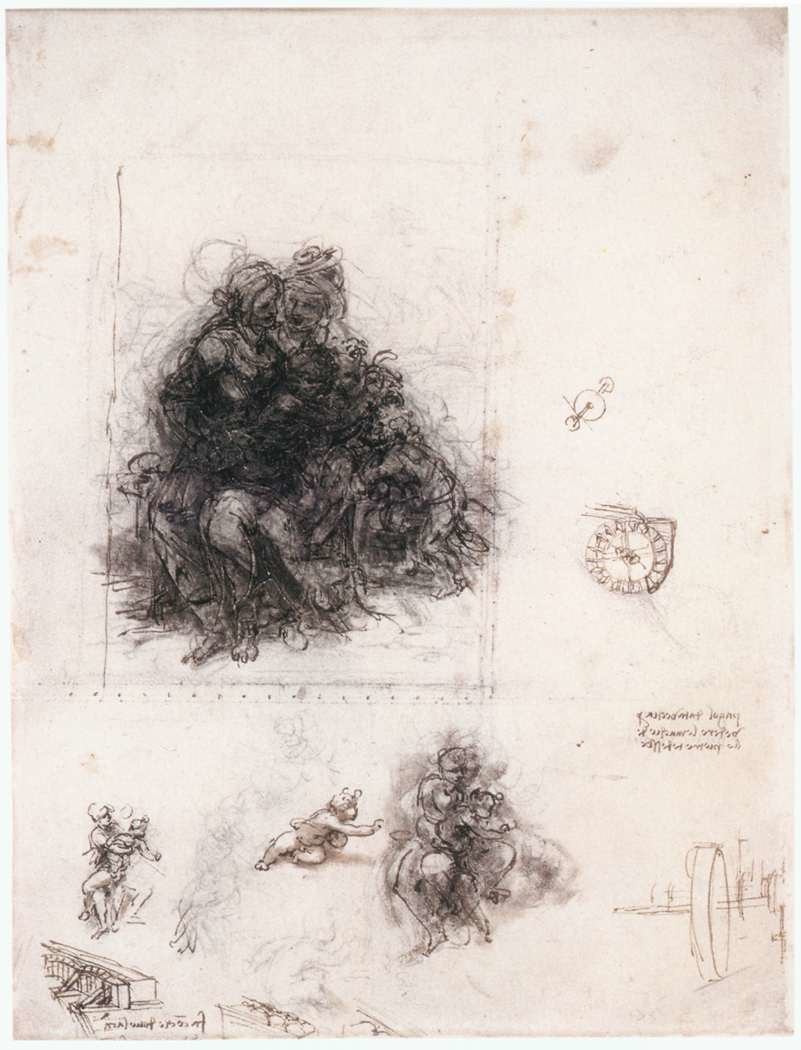 Leonardo da vinci, Study for the Burlington House Cartoon