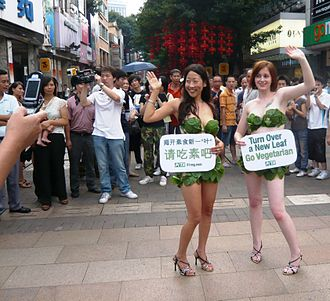 People for the Ethical Treatment of Animals - Lettuce Ladies in Guangzhou, China