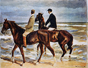Hildebrand Gurlitt - Max Liebermann's Two Riders On The Beach in the Gurlitt collection and now passed on to the descendants of the original Jewish owner