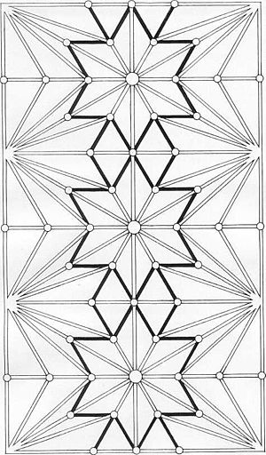 Lierne (vault) - Plan of lierne vault - Ely Choir, (liernes are shaded black).