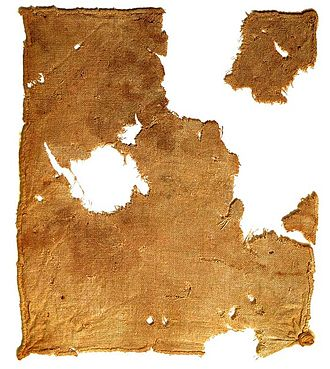 Linen - Linen cloth recovered from Qumran Cave 1 near the Dead Sea