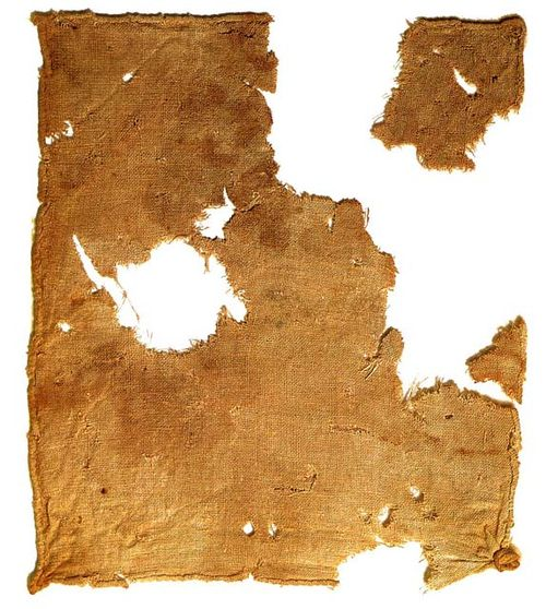 Linen cloth recovered from Qumran Cave 1 near the Dead Sea Linen cloth.jpg