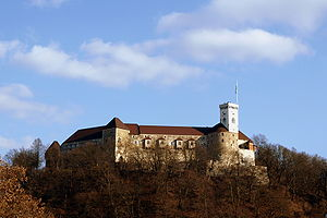 Ljubljana Castle as seen from University Building