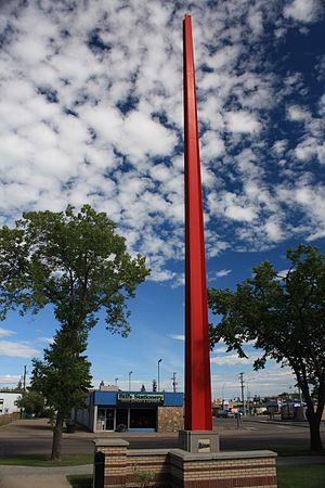 Dominion Land Survey - A border marker in Lloydminster