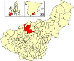 Situación de Iznalloz