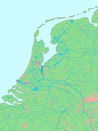 Vecht (Utrecht) - Location of river Vecht (in dark blue).