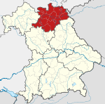 Locator map RB Oberfranken in Bavaria.svg