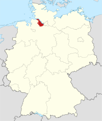 Locator map STD in Germany.svg