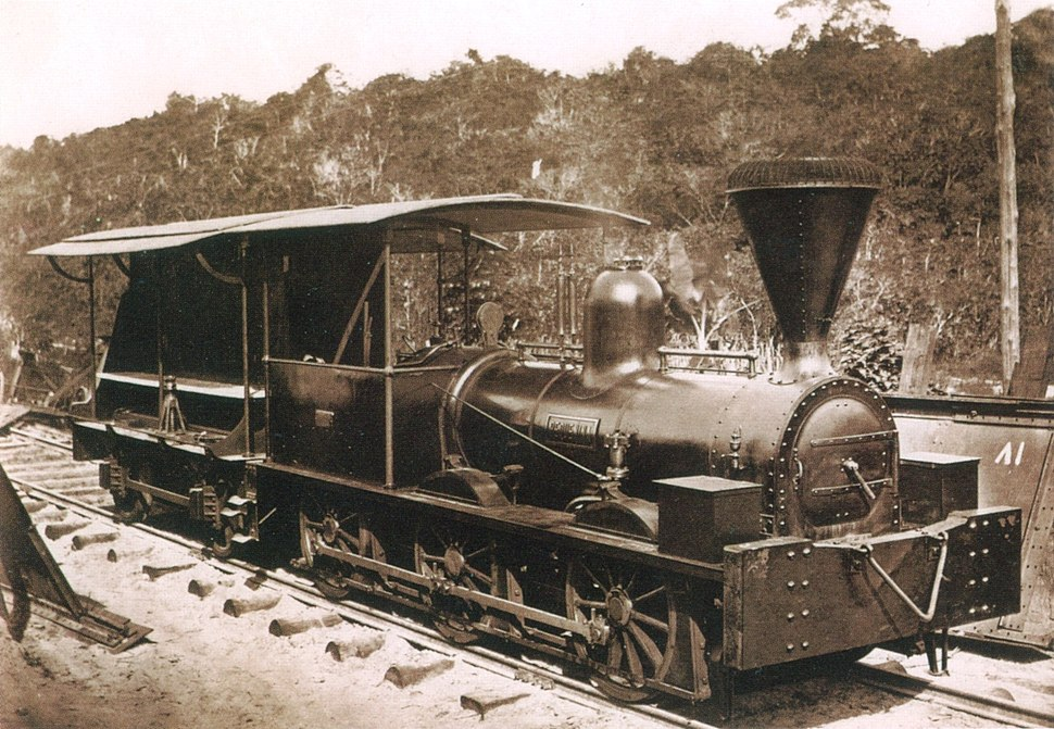 Locomotive in Bahia province 1859