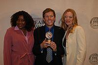 Loretta Devine, David E. Kelley, and Jeri Ryan, May 2003 (9).jpg