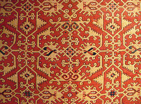 Left Image Large Lotto Carpet Western Anatolia Usak 16th Century Right Design Detail Turkish And Islamic Arts Museum