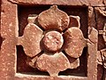 Lotus, a typical Hindu temple motive, in red sandstone, Qutb complex.jpg