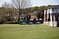 Loughton Cricket Club cricket pitch covers at Loughton, Essex, England 02.jpg
