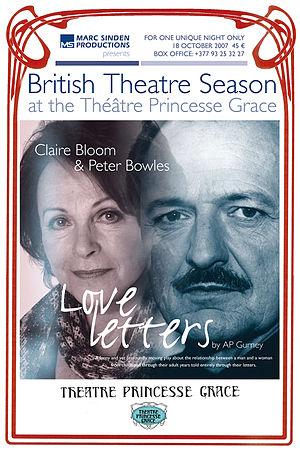 Marc Sinden - Poster for the British Theatre Season, Monaco