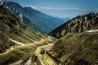 Lowari Pass - Prior to the construction of the Lowari Tunnel, vehicles had to traverse the pass by ascending via a dangerous roadway