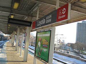 Loyola station - Image: Loyola CTA Station