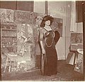 Lucy Hessel in the studio of Édouard Vuillard.jpg