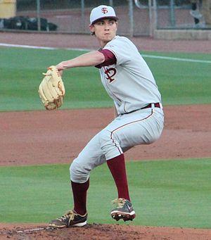Luke Weaver (baseball) - Weaver pitching for the Florida State Seminoles in 2014
