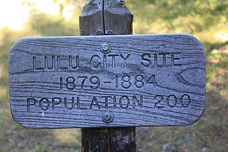 Lulu City, Colorado - Lulu City marker, National Park Service