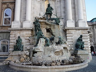 Matthias Fountain - The Matthias Fountain in the western forecourt of Buda Palace