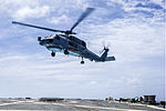 MH-60R of HSM-51 takes off from USS McCampbell (DDG-85) in March 2014.JPG