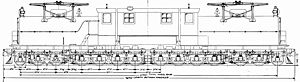 Milwaukee Road class EP-2 - Side-view drawing with dimensions.