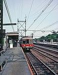 MNRR train at Westport station, July 1980.jpg