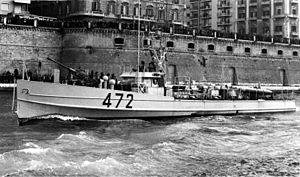 E-boat - Italian MS 472, post-war configuration