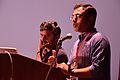 M Krishna Doss with Shashank Gupta - Presentation - Collaboration between Microsoft and Indic Language Community - Bengali Wikipedia 10th Anniversary Celebration - Jadavpur University - Kolkata 2015-01-09 2744.JPG