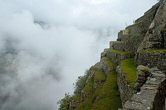 Machu Picchu - Terraced fields in the upper agricultural sector