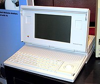 The Macintosh Portable was Apple's first portable Macintosh. It was available from 1989 to 1991 and could run System 6 and System 7.