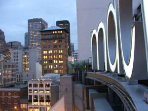Macy's West - View of The Top of The Macy's West flagship store at Union Square in San Francisco.