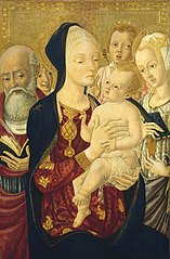 Madonna and Child with Saint Jerome, Saint Catherine of Alexandria, and Angels
