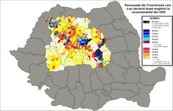 Maghiari declarati in Transilvania (1850).png