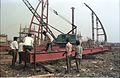 Main Auditorium Under Construction - Convention Centre Complex - Science City - Calcutta 1994-11-03 470.JPG