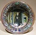 Maiolica di gubbio, scodella con san nicola da tolentino, 1524.JPG