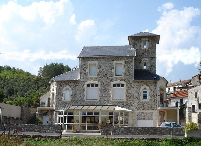 Rosis (Hérault, France): La mairie.