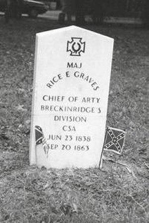 Rice E. Graves - Graves' military grave marker