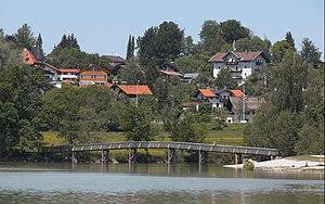 Gmund am Tegernsee - Gmund am Tegernsee seen from Mangfall River